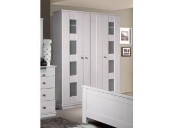 Трехстворчатый шкаф для одежды Доминика (белый воск)