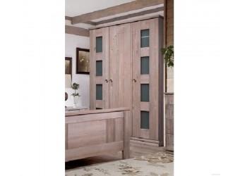 Трехстворчатый шкаф для одежды Лотос сосна БМ-2191 BRU (брашированный мокко)