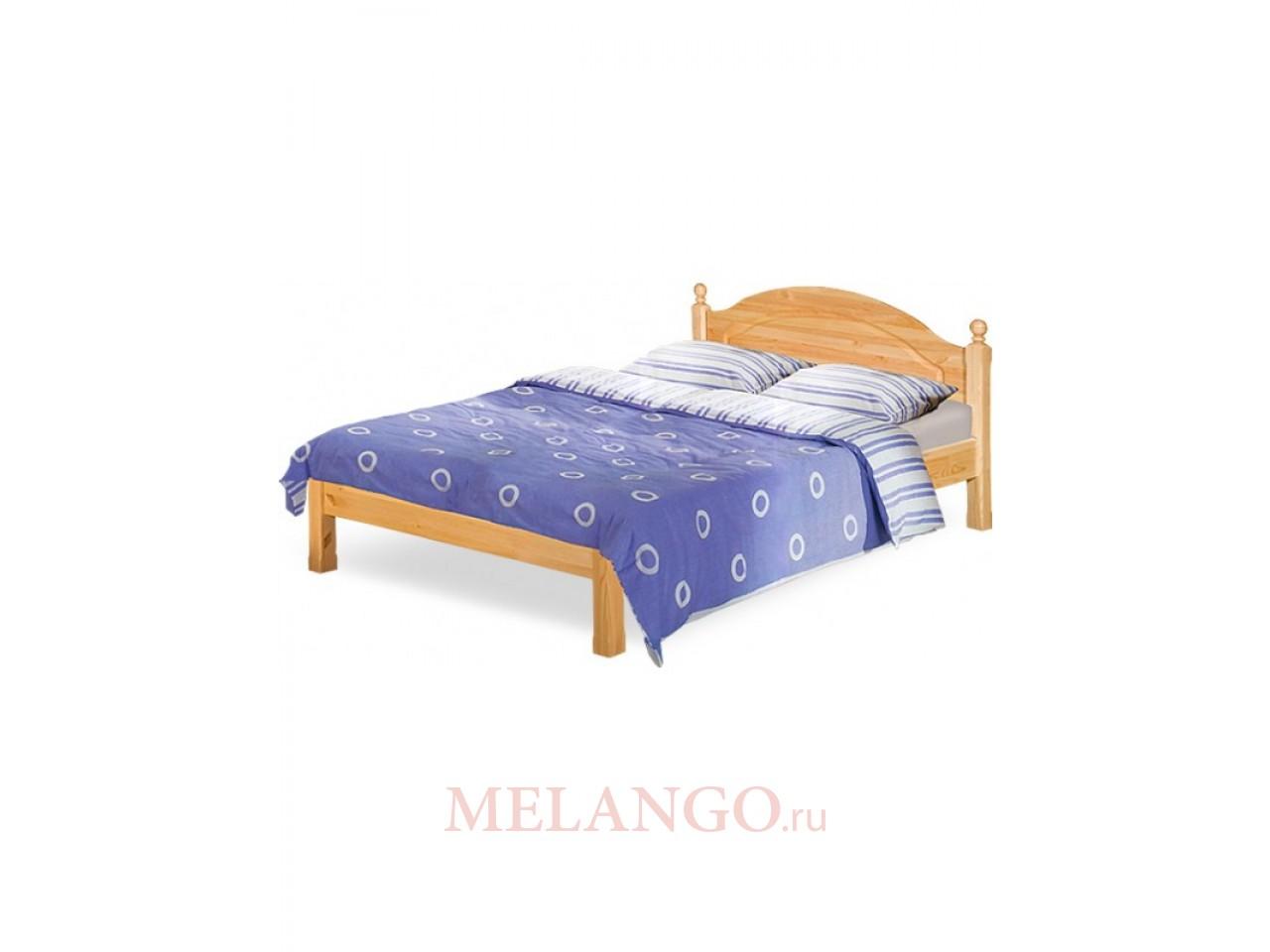 Двуспальная кровать Лотос Б-1090-08 (искусственное старение) 1400 мм