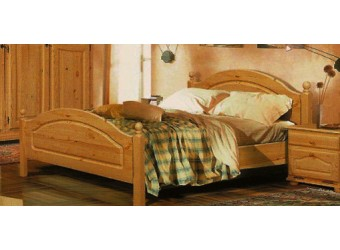 Двуспальная кровать Лотос сосна Б-1090-11 (искусственное старение) 1600 мм