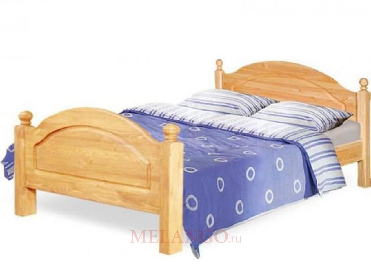 Односпальная кровать Лотос Б-1089-05 (натуральная сосна)