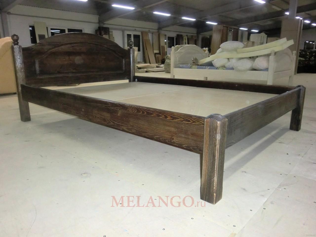 Односпальная кровать Лотос Б-1089-08BRU (брашированный мокко)