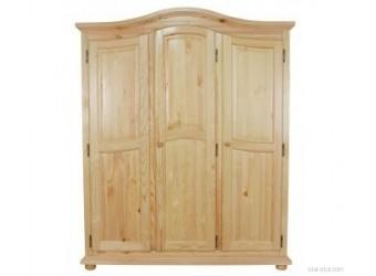 Трехстворчатый шкаф для одежды Лотос сосна (натуральная сосна)