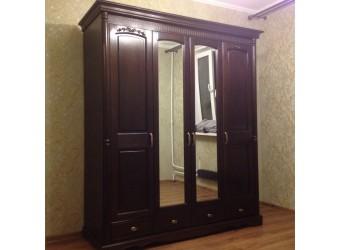 Четырехстворчатый шкаф для одежды Паола БМ-2164-01 (горячий шоколад)
