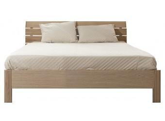 """Двуспальная кровать 2-16 """"Лайма 6010"""" БМ661, с решетчатой спинкой (разбеленный дуб)"""