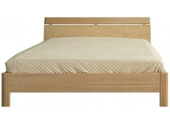 """Двуспальная кровать 2-16 """"Лайма 6011"""" БМ661, с глухой спинкой(разбеленный дуб)"""