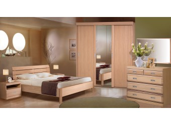Спальня Лайма (дуб разбеленный)