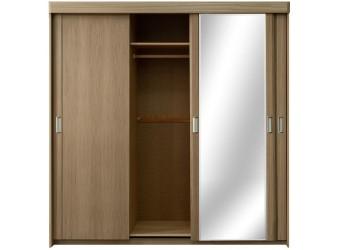 """Трехдверный шкаф-купе для одежды """"Лайма 1602-01"""" БМ661 с зеркалом (разбеленный дуб)"""