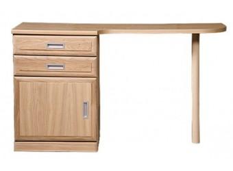 """Туалетный столик """"Лайма 1615"""" левый БМ661 (дуб разбеленный)"""