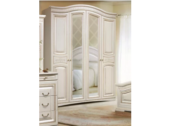 Четырехстворчатый шкаф для одежды Венера (беж)