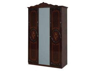 Трехстворчатый шкаф для одежды Роза (могано)