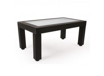 Стол журнальный прямоугольный Комфорт №27 Модель ИЛ-103 со стеклом из дерева