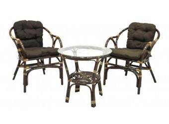 Комплект кофейный Terrace Set Classic Rattan из ротанга
