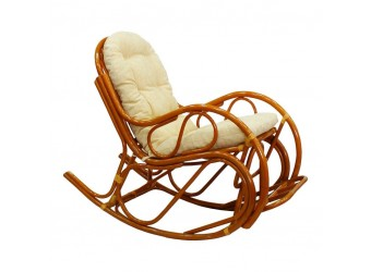 Кресло-качалка 05/17 из ротанга с подножкой