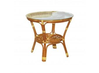 Кофейный стол Багама Classic Rattan 03/10A из натурального ротанга со стеклом