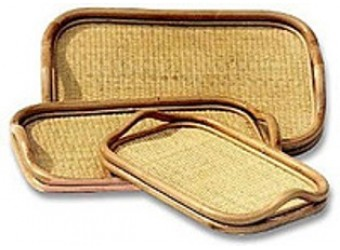 Комплект подносов из 3х Classic Rattan 21/06 из ротанга прямоугольный