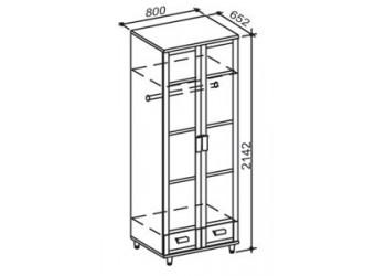 Двухстворчатый шкаф Фристайл ФР-4М