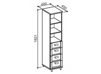 Одностворчатый шкаф Фристайл ФР-5М