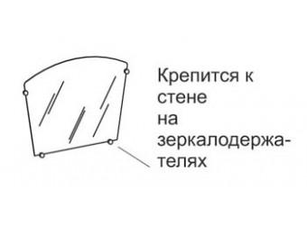 Зеркало настенное Фристайл ФР-40/1