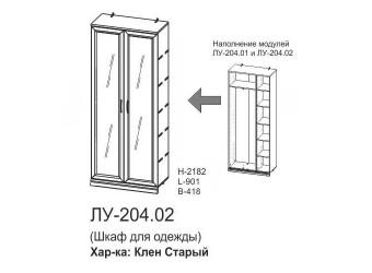 Двухстворчатый шкаф Луара ЛУ-204.02