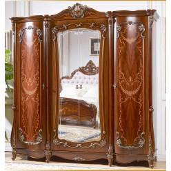 Четырехстворчатый шкаф для одежды Магдалена КА-ШК орех