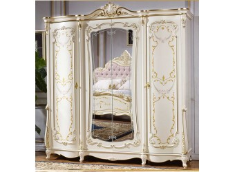 Четырехстворчатый шкаф для одежды Магдалена КА-ШК слоновая кость
