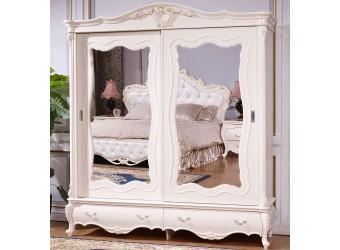 Шкаф-купе для одежды Мона Лиза КА-ШК белый глянец