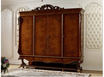Четырехстворчатый шкаф для одежды Роял КА-ШК орех