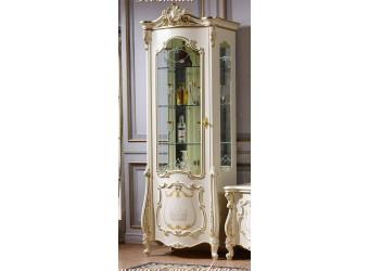 Шкаф-витрина для посуды Магдалена КА-ШВ-Л слоновая кость (левая)