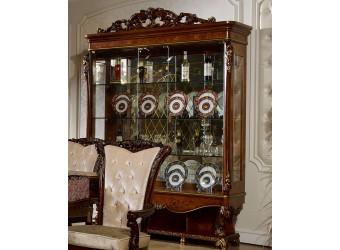 Трехстворчатый шкаф-витрина для посуды Роял КА-ШВ-3 орех