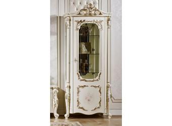Шкаф-витрина для посуды София КА-ШВ-П слоновая кость (правая)