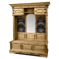 Шкаф для прихожей Викинг 04 (искусcтвенное старение)