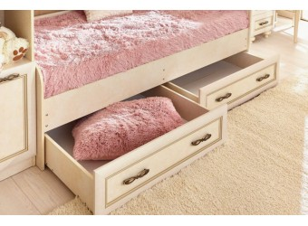 Кровать 800 Александрия с ящиками ЛД 510-030