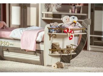 Кровать Калипсо с малой прикроватной полкой ЛД 509.160