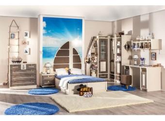 Кровать Калипсо с декоративной спинкой ЛД 509.170