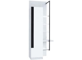 Шкаф-витрина правый Кельн (Метрополитан грей/Белый) ЛД 674.060