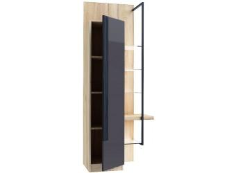 Шкаф-витрина правый Кельн (Дуб золотой/Антрацит) ЛД 674.060