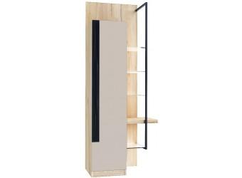 Шкаф-витрина правый Кельн (Дуб золотой/Кашмир) ЛД 674.060