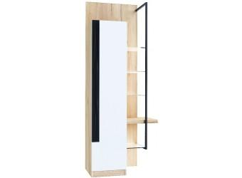 Шкаф-витрина правый Кельн (Дуб золотой/Белый) ЛД 674.060