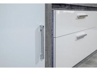 Шкаф навесной Неон ЛД 667.140 Метрополитан/Белый