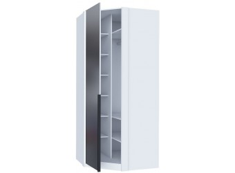Шкаф угловой с зеркалом Норд ЛД 677.080.000.012 Белый/Статуарио