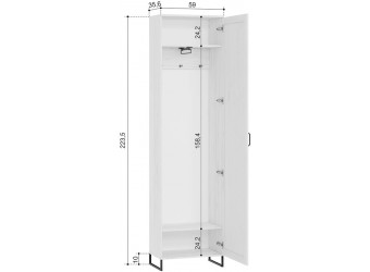 Шкаф одностворчатый Сидней ЛД 672.010М