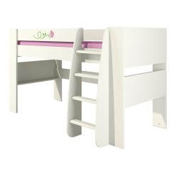 Детская кровать чердак с лестницей Розалия КРД120-1Д1