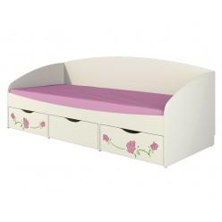 Детская односпальная кровать с ящиками внизу Розалия КР-2Д1