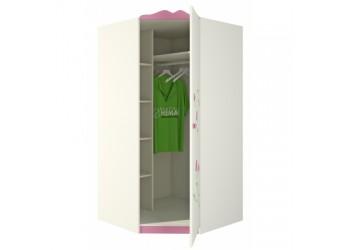 Детский угловой шкаф для одежды и белья с полками и штангой Розалия ШУ-1ПД1 правый