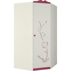 Угловой детский шкаф для одежды Сакура левый ШУ-1ЛД0 от Мебель-Неман