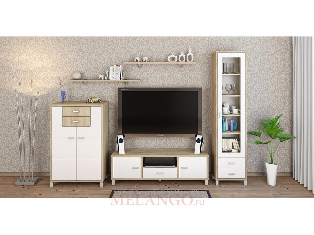 Модульная гостиная Домино Сонома от Мебель-Неман