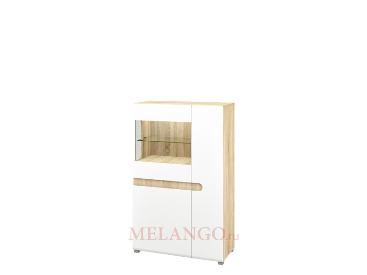 Двухстворчатый шкаф витрина Леонардо МН-026-03 белый