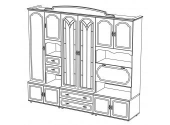 Мебель для гостиной Романтика от Мебель-Неман композиция 2
