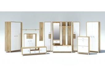 Модульная прихожая Домино Сонома от Мебель-Неман композиция 3
